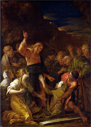 Christ cleansing a leper by Jean-Marie Melchio...