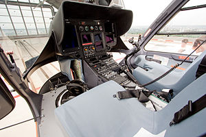 Eurocopter EC135 - Cockpit of an EC135, May 2008