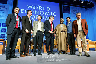 Fareed Zakaria - Fareed Zakaria at World Economic Forum 2006, Davos, Switzerland (second from the right)
