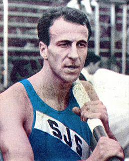 Christos Papanikolaou Greek Pole Vault World Record Holder, first man over 18 feet
