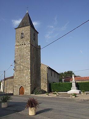 Church, Tarsac, Gers, France.JPG