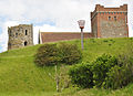 Church, lighthouse and beacon in Dover Castle.jpg