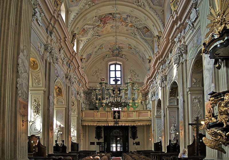 File:Church of St. Anne, interior-choir and organ, 13 sw. Anny street, Old Town, Krakow, Poland.jpg