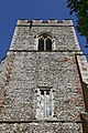 Church of St Martin White Roding Essex England - tower detail from west.jpg