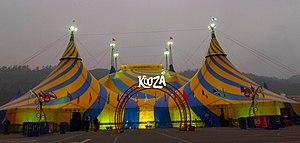 Cirque du Soleil - Koozås grand chapiteau in Santiago, Chile.