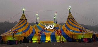Cirque du Soleil - Koozås grand chapiteau in Santiago, Chile