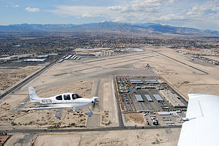 North Las Vegas Airport airport located three nautical miles (6 km) NW of the central business district of Las Vegas
