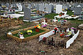 City of London Cemetery and Crematorium - temporary plastic grave decorations 01.jpg
