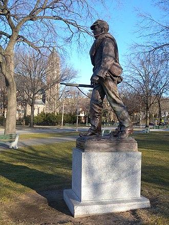 Joseph Pollia - Image: Civil war statue LP jeh