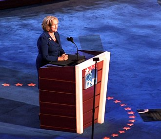 Claire McCaskill - McCaskill speaks during the first night of the 2008 Democratic National Convention in Denver, Colorado.
