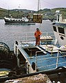 Clash Harbour - a natural phenomenon. Lo^ there's a fisherman - geograph.org.uk - 726741.jpg