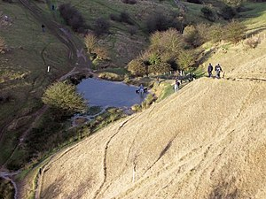 English: Cleeve Hill Part of the Cotswold Way ...