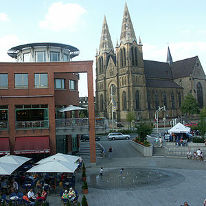 Solingen - Solingen-Mitte: St. Clemens Church and Clemens Galerien