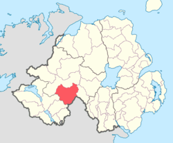 Location of Clogher, County Tyrone, Northern Ireland.
