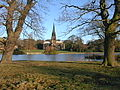 Clumber Chapel Viewed from Opposite Side of Lake - geograph.org.uk - 299186.jpg
