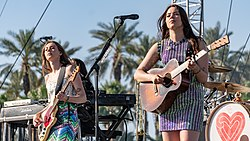 First Aid Kit performing live at Coachella in 2018