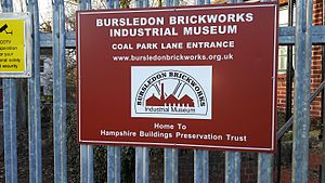 Bursledon Brickworks Museum - Coal Park Lane entrance in February 2017