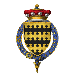 Charles Blount, 8th Baron Mountjoy - Arms of Sir Charles Blount, 8th Baron Mountjoy, KG: Barry nebuly of six or and sable