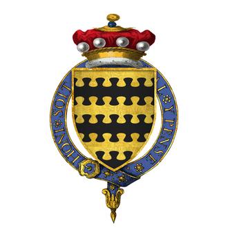 Charles Blount, 8th Baron Mountjoy - Arms of Sir Charles Blount, 8th Baron Mountjoy, KG: Barry nebuly of six or and sable