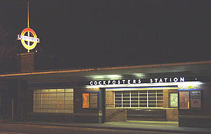Piccadilly line extension to Cockfosters - Image: Cockfosters Outside