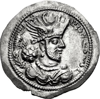 Coin of Bahram IV (cropped), Herat mint
