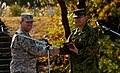 Col. Koji Furuya of JGSDF 33i and Lt. Col. Jonathan Larsen of U.S. 14i exchange gifts, -7 Nov. 2012 a.jpg