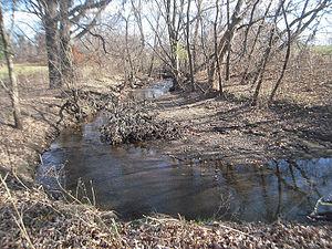 Coldbrook Creek (Michigan) - Coldbrook Creek in Highland Park
