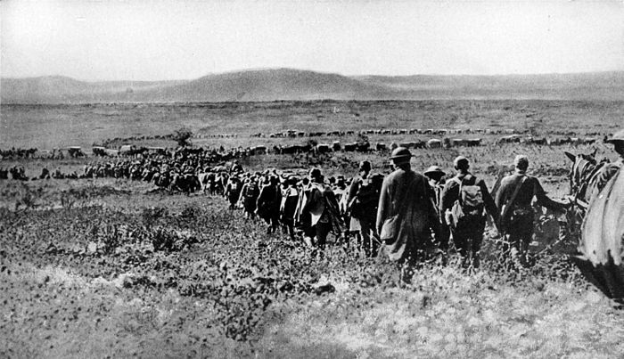 Collier's 1921 World War - American troops pour into St. Mihiel salient toward Mont Sec.jpg