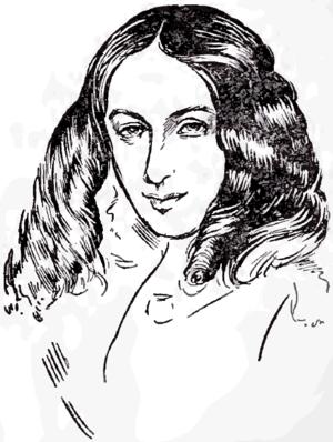 English: Portrait drawing of poet Elizabeth Ba...