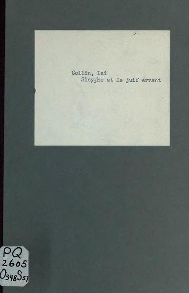 File:Collin - Sisyphe et le Juif errant, 1914.djvu