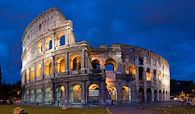 Construction of the Flavian Amphitheatre, better known as the Colosseum, was begun by Vespasian, and ultimately finished by his son Titus.