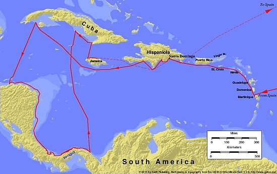 Christopher Columbus' fourth and last voyage