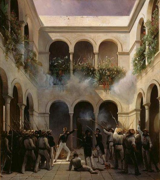 Fichier:Combat de Vera Cruz 1838 Prince de Joinville attaque la maison du general Arista.jpg