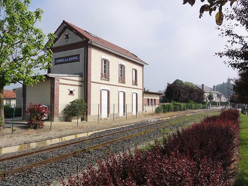 Condé-sur-Suippe (Aisne) la gare