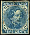 Confederate stamp Jefferson Davis 5c 1862 issue.jpg