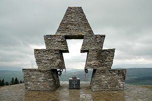 Verecke Pass - Memorial of the 1100th anniversary of the Hungarian conquest of the Carpathian Basin in 895 (photographed in 2008)
