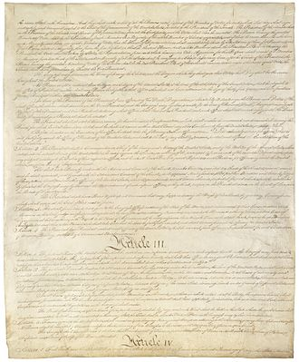 Oath of office of the President of the United States - Image: Constitution of the United States, page 3