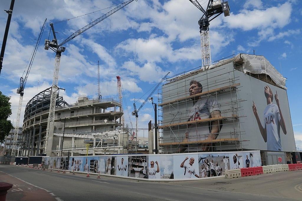 File:Construction of new stadium at White Hart Lane 2 ...