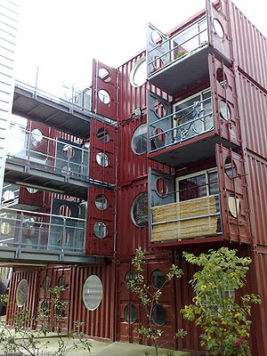 Container building, see also container-city-one