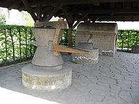 Corn mill (archaeological park Xanten, Germany, 2005-04-23).jpg