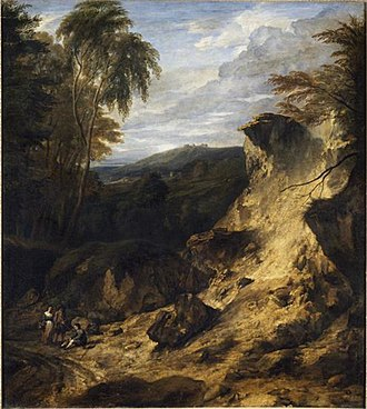 Cornelis Huysmans - Landscape with steep hill