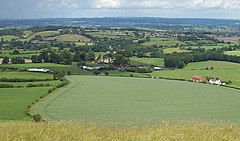 Corsley Village from Cley Hill (geograph 2463107).jpg