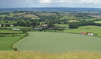 Corsley - Image: Corsley Village from Cley Hill (geograph 2463107)