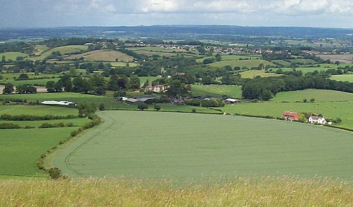 Corsley Village from Cley Hill (geograph 2463107)