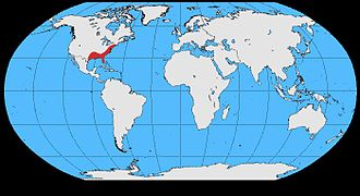 Fish crow - Image: Corvus ossifragus map