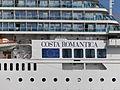 Costa neoRomantica Name on the Gunwale Tallinn 20 July 2013.JPG