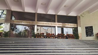 Bishop Cotton Boys' School - Entrance to the Bishop George Edward Lynch Cotton Auditorium in the school campus