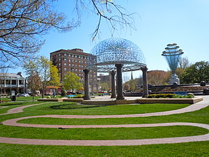 English: Bayliss Park in downtown Council Bluf...