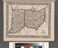 County map of Ohio and Indiana. NYPL1510814.tiff
