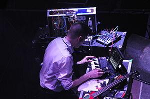 Covenant (band) - Andreas on synths at o2 Islington